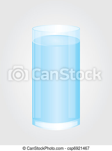 glass of water vector - csp6921467