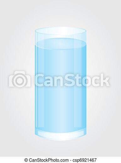 glass of water vector - csp6921467