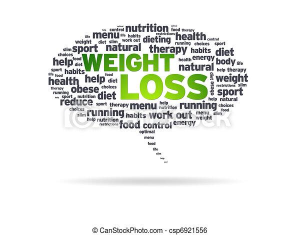 Speech Bubble - Weight Loss - csp6921556