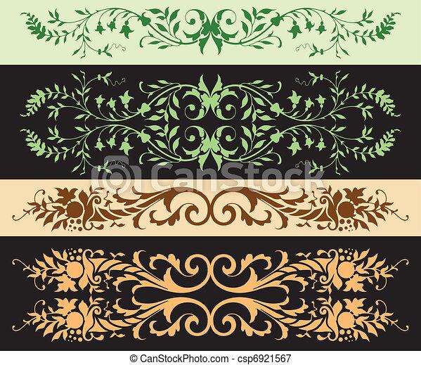 Leafy Ornaments - csp6921567