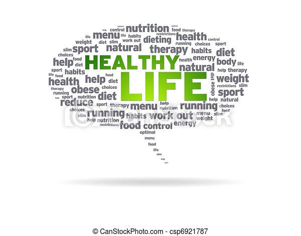 Speech Bubble - Healthy Life - csp6921787