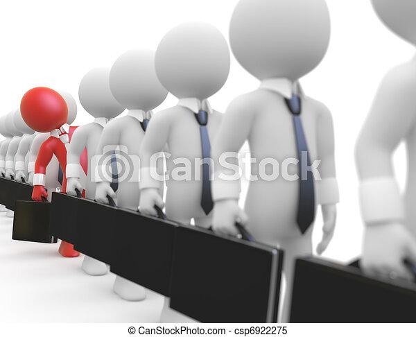 Businessmen queuing - csp6922275