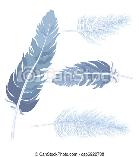 Set Feather. Vector - csp6922738