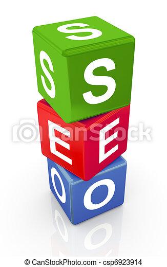 3d buzzword text 'seo' - csp6923914