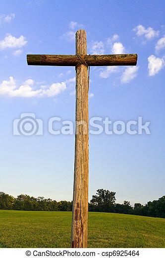 Old Rugged Cross landscape - csp6925464