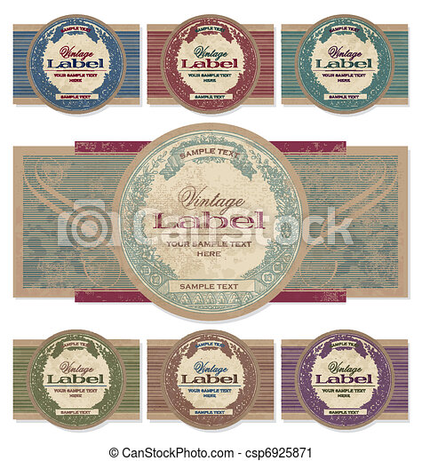 vintage labels set (vector) - csp6925871