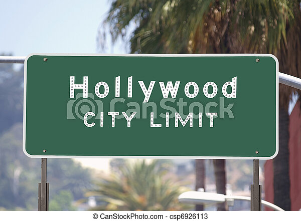 Hollywood City Limits Sign - csp6926113