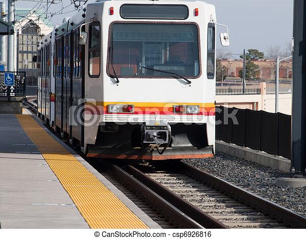 Light rail in Denver, Colorado.