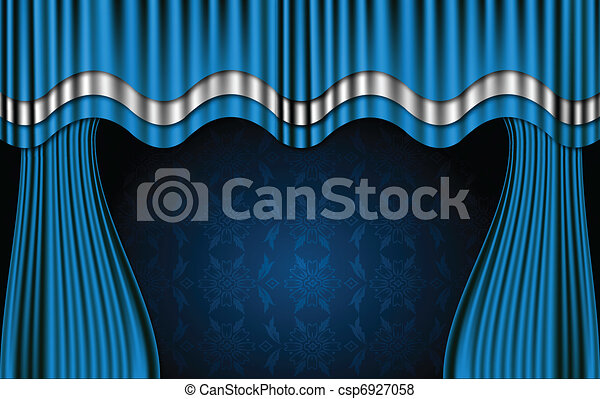 Curtains Ideas blue stage curtains : Vector of Blue Theatre Curtains. Vector - Blue theatre stage ...