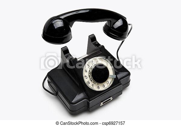 Vintage rotary telephone - csp6927157