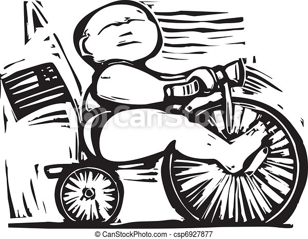 Fat Baby on tricycle - csp6927877