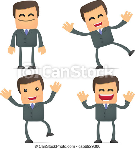 businessman dancing and jumping from joy - csp6929300