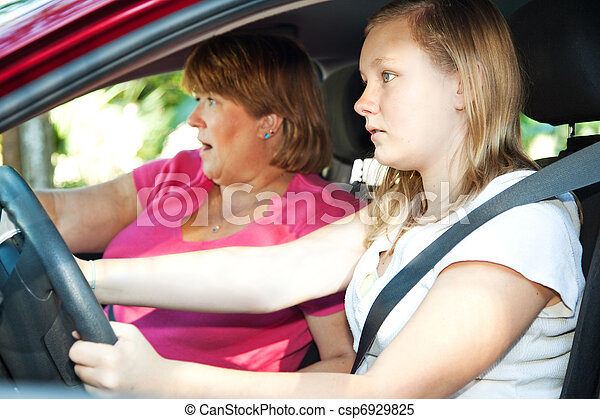 Teen Driver - Car Accident - csp6929825