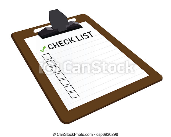 Clipboard With Check List Attached  - csp6930298