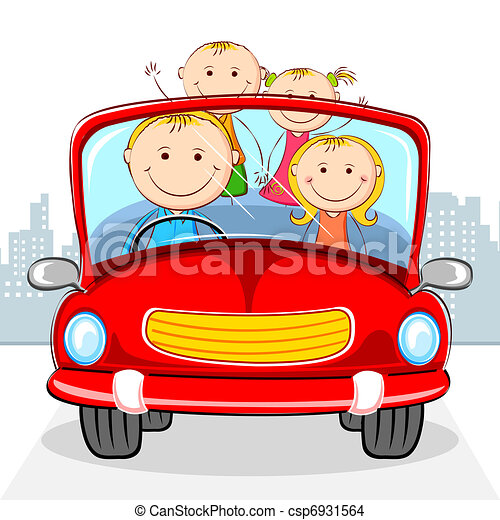 Family in Car - csp6931564