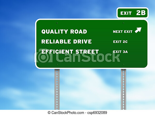 Quality, Reliable, Efficient Highway Sign - csp6932089