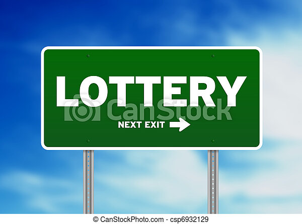 Lottery Road Sign - csp6932129
