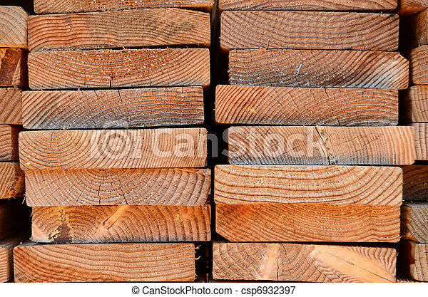 Stack Of Timber Planks - csp6932397