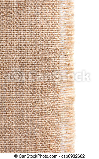 Burlap with frayed edges - csp6932662