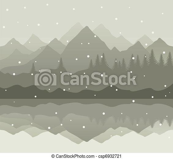 Winter mountains - csp6932721