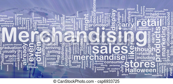 Merchandising background concept - csp6933725