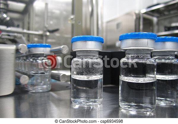 maskin, farmaceutisk, växt, tillverkning av, Flaskor - csp6934598
