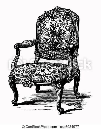 Antique armchair - csp6934977