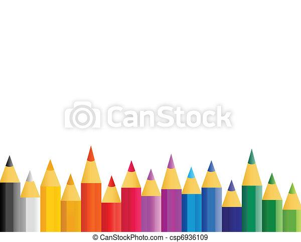 color pencils in vector - csp6936109