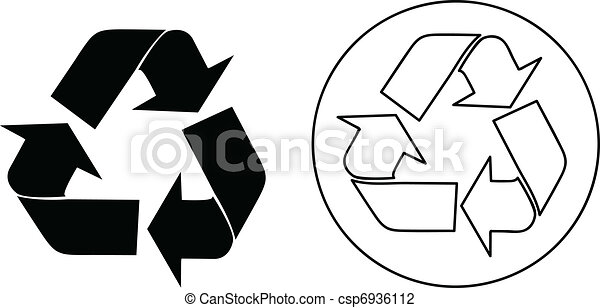 Vector recycle sign - csp6936112