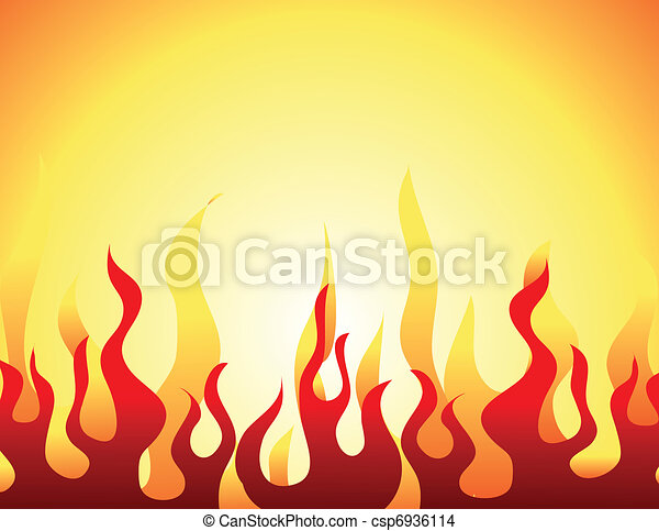 Red burning flame pattern - csp6936114