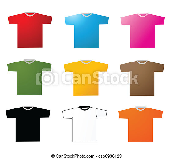 Set of tee shirts vector - csp6936123