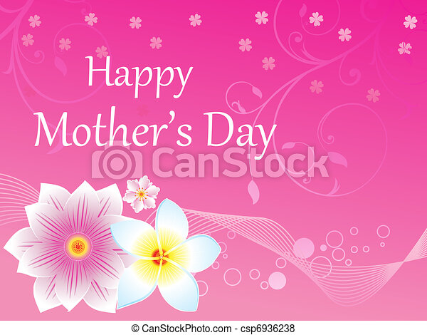 abstract mother's day background - csp6936238