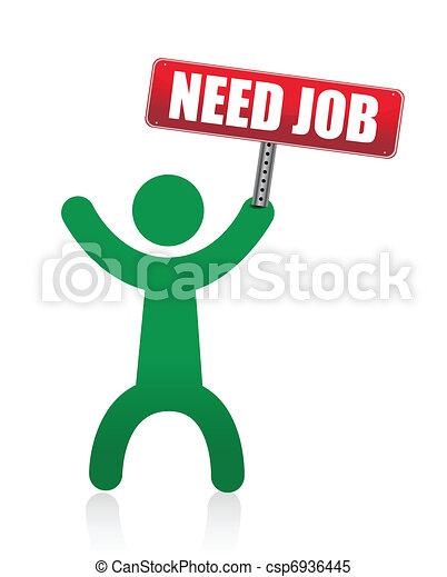 need a job banner - csp6936445