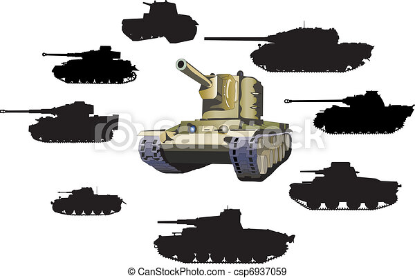 Set of tanks - csp6937059