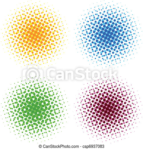 Colorful halftone dots - csp6937083