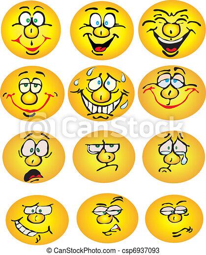 Set of smiles - csp6937093