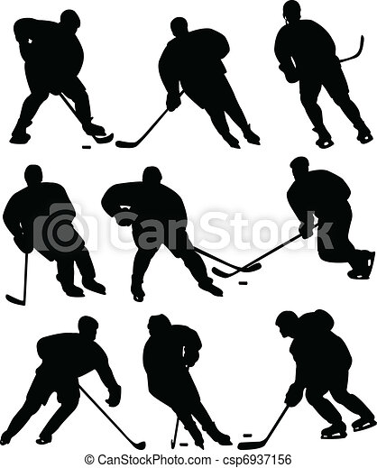 Ice hockey players - csp6937156