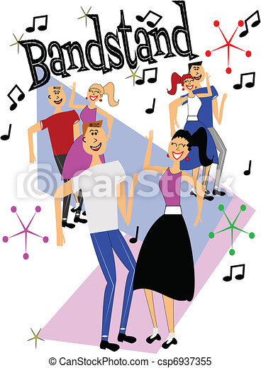 bandstand dancers  - csp6937355