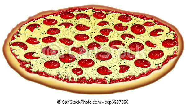 Pepproni  amp Cheese Pizza stock Cheese Pizza Clip Art