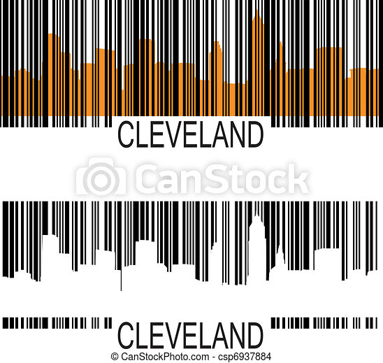 barcode - Cleveland skyline barcode csp6937884 - Search Clip Art ...