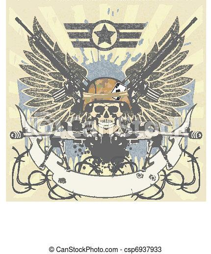 Military emblem - csp6937933