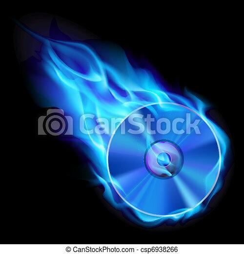 Burning blue CD - csp6938266