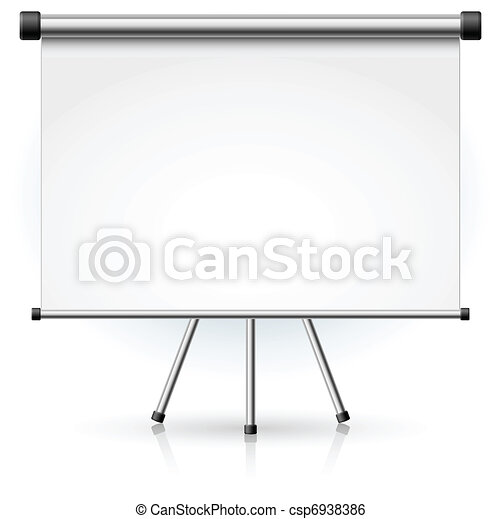 Blank portable projection screen - csp6938386