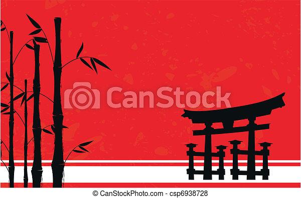japan bamboo background4 - csp6938728