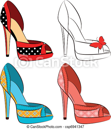 beautiful set of shoes with high he - csp6941347