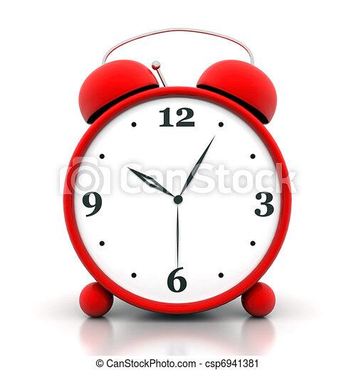 Clipart de reveil horloge beau image rouges reveil - Dessin reveil ...