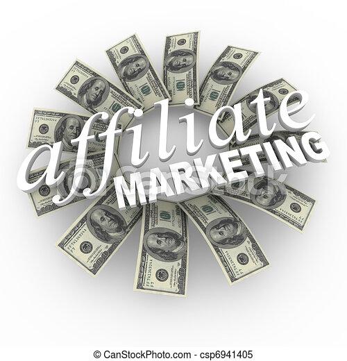Affiliate Marketing Referral Network Money Generating Plan - csp6941405