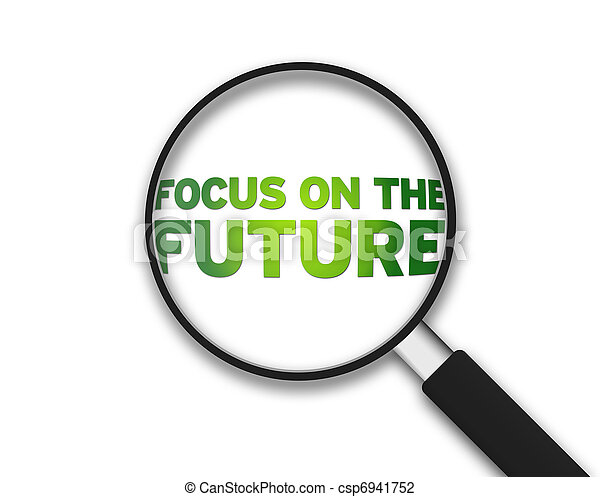 Magnifying Glass - Focus on the future - csp6941752
