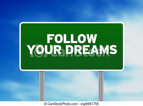 Follow Your Dreams Clipart Green Follow your dreams road