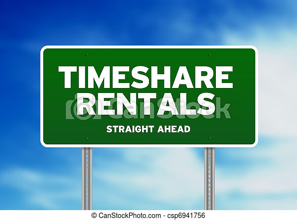 Green Road Sign - Timeshare Rentals - csp6941756